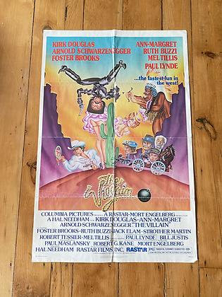 Vintage 1979 The Villain Movie Poster