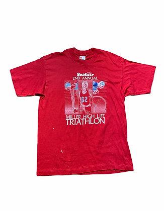 Vintage 80's Miller High Life Triathlon T-Shirt