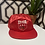 Thumbnail: Vintage New Old Stock Budweiser Olympics Red Satin Snapback