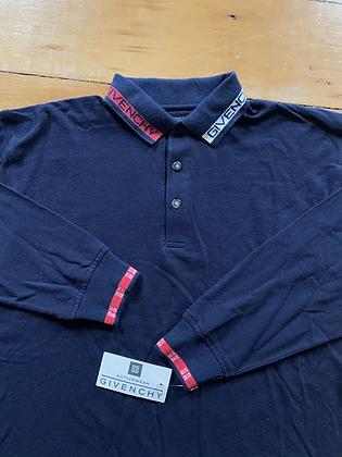 Vintage New Givenchy Long Sleeve Polo Shirt