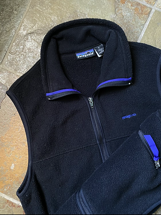 Patagonia Made in USA Purple/Black Fleece Vest
