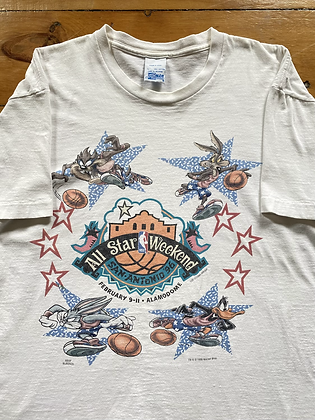 Vintage 1995 Salem Sports NBA All Star Game Looney Tunes T-Shirt