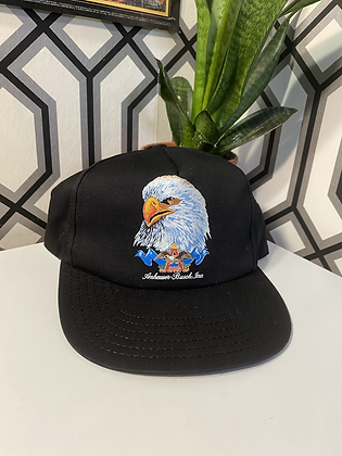 Vintage New Old Stock Anheuser Busch Eagle Print Made in USA Snapback