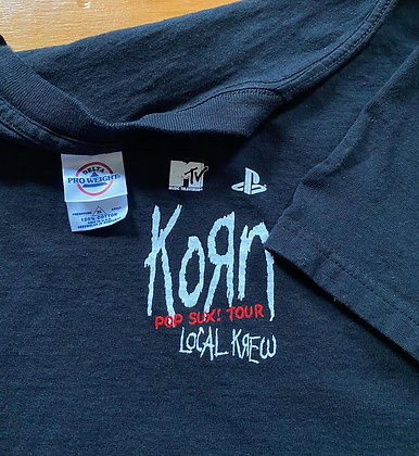 Vintage Korn x MTV x Pony x Play Station 'Pop Sux' Tour T-Shirt