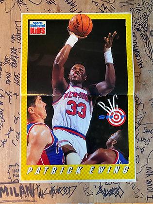 Vintage 1993 Knicks Patrick Ewing SI Kids Poster