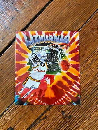 Vintage Grateful Dead Lithuania Sticker
