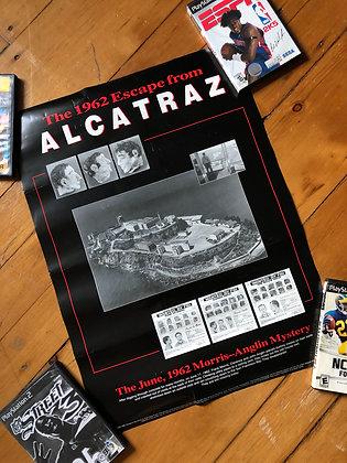 Vintage 1996 Escape From Alcatraz Poster
