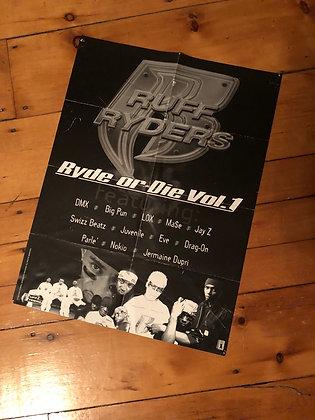 1999 Ruff Ryders 'Ride or Die Vol. 1' Poster