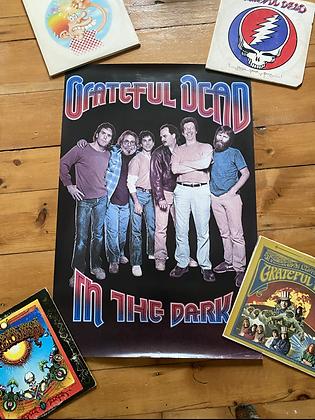 Vintage 1987 Grateful Dead 'In The Dark' Poster Print