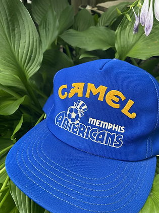 Vintage Camel Memphis Americans Soccer Snapback