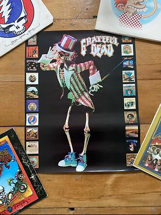 Vintage 1990 Grateful Dead Albums Poster Print