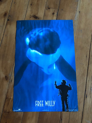 Vintage 1993 Free Willy Poster