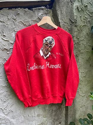 Vintage 80's Hand Painted Bob Knight Indiana Sweatshirt
