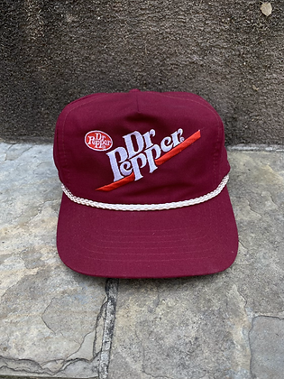 Vintage Dr. Pepper Rope Trucker Snapback