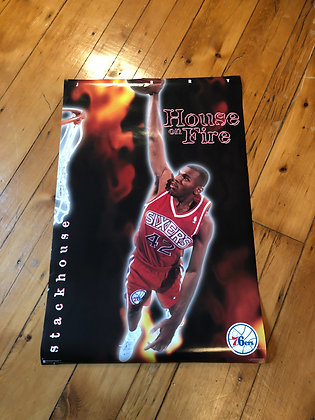 Vintage 1995 Jerry Stackhouse 76ers Poster