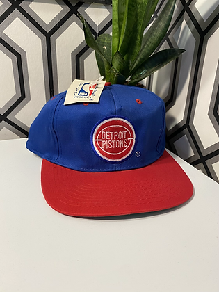 Vintage New With Tags Detroit Pistons Snapback