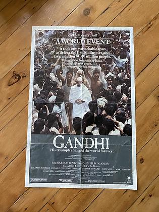 Vintage 1982 Gandhi Movie Poster