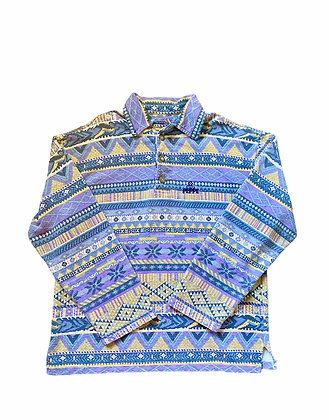 Vintage Thio Peppe Abstract Pattern Rugby Shirt