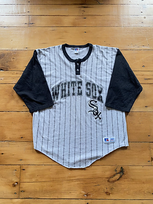 Vintage 1995 Russell Athletic Chicago White Sox 3/4 Sleeve Jersey