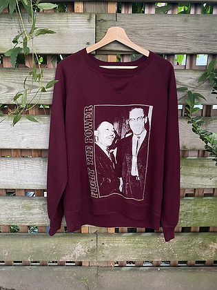 Vintage MLK and Malcom X Crewneck Sweatshirt