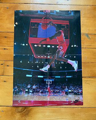 Vintage 1989 Nike x Wheaties Jordan Poster Insert