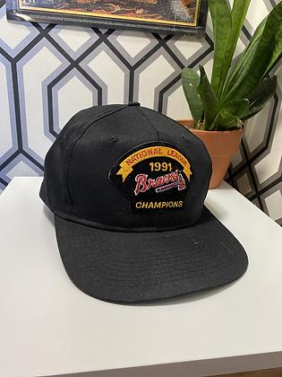 Vintage 1991 Braves Championship Snapback