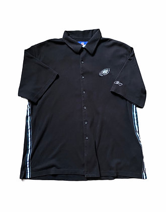 Vintage Eagles On Field Tapped Button Up Warmup Shirt