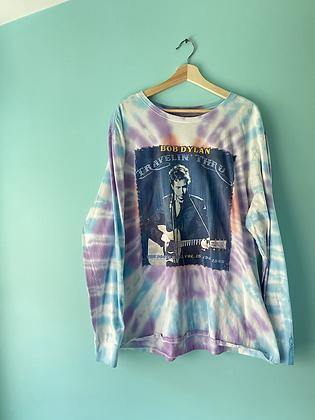 Bob Dylan Tie Dye Concert Long Sleeve Tee