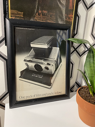 Vintage 1975 Polaroid Framed Print Ad