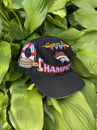 Vintage New Old Stock 1998 Broncos Super Bowl Champions Snapback