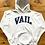 Thumbnail: Vintage 90's Vail Colorado White / Navy Blue Hoodie Sweatshirt