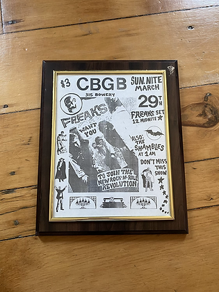 Vintage Original CBGB The Freaks Punk Concert Poster Print