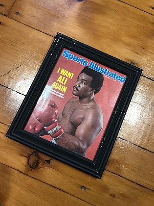 Vintage 1974 George Foreman Framed SI Cover