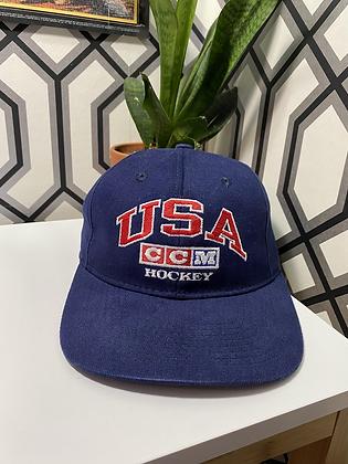 Vintage CCM USA Hockey Snapback