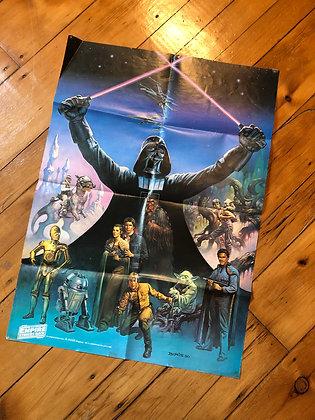 Vintage 1980 Star Wars Poster