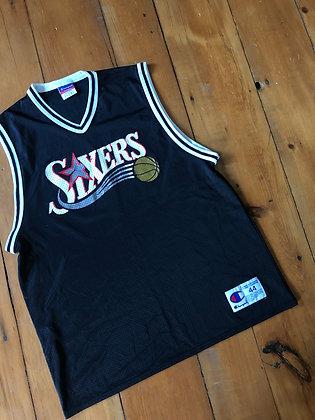 Vintage Champion 76ers Blank Jersey