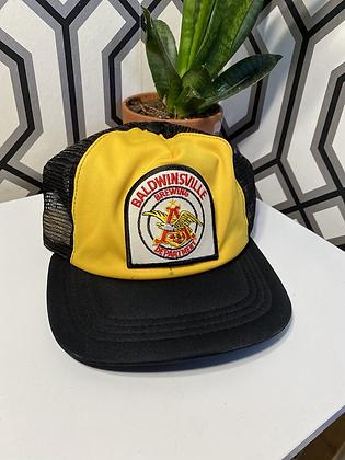 Vintage Anheuser Busch Baldwinsville Brewing Department Promo Trucker Snapback