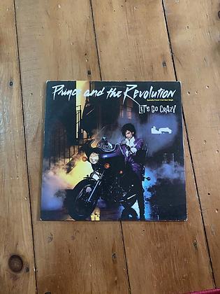 Vintage 1984 Prince 'Let's Go Crazy' Vinyl Single