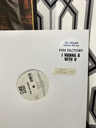 Vintage 1995 Fun Factory 'I Wanna B with U' Vinyl Single