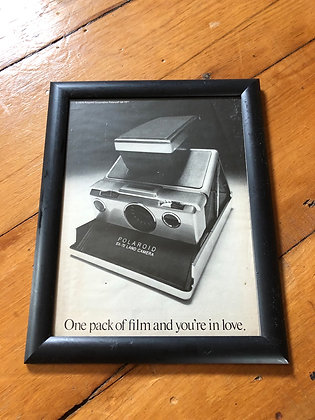 Framed Vintage 1975 Polaroid SX-70 Print Ad
