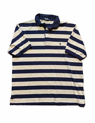 Vintage Ralph Lauren Yellow/ Navy Striped Polo
