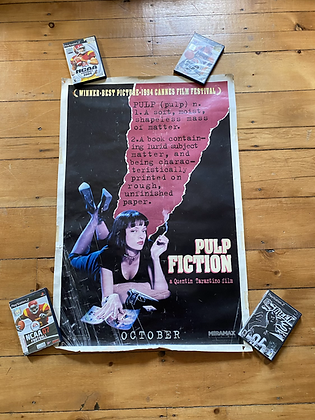 Vintage 1994 Pulp Fiction Original Movie Poster