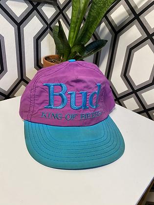 Vintage 80's Made in USA Bud King of Beers Snapback