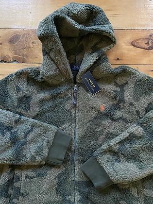 New Ralph Lauren Camo Sherpa Zip Up Hoodie