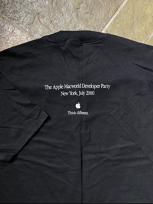 Vintage Deadstock 2000 Apple Macworld Developer Party T-Shirt