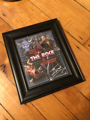 1998 The Rock Framed Mini Poster