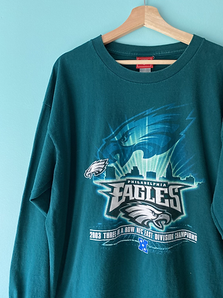 2003 Eagles Big Graphic Long Sleeve T-Shirt