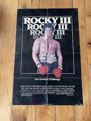 Vintage 1982 Rocky III Movie Poster