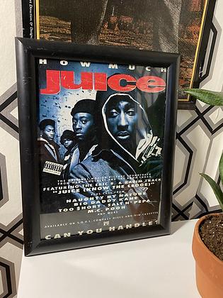 Vintage 1991 Juice Movie Promo Framed Print Ad