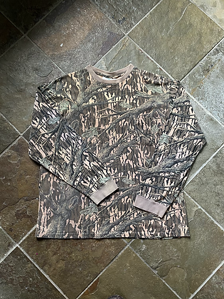 Vintage 80's Made in USA Mossy Oak Long Sleeve Camo Pocket T-Shirt